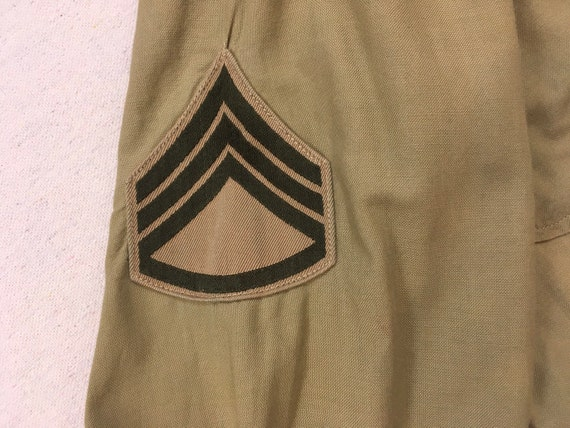 1960's, Staff Sergeant, Military shirt, in khaki - image 8