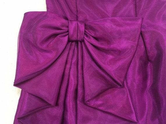 1990's, strapless, big bow, formal, mini-dress, i… - image 5