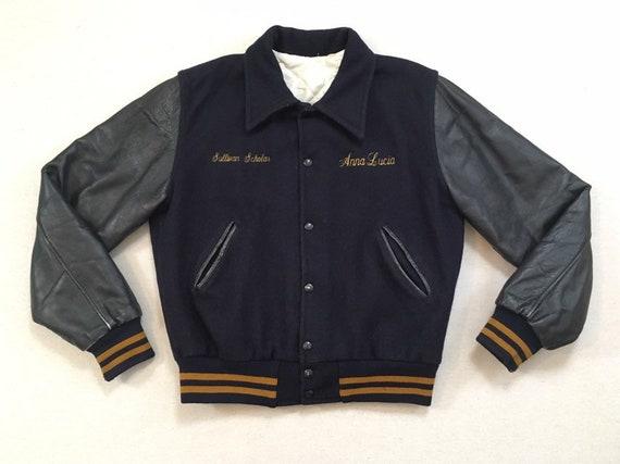 1980's, Sullivan High School, leather sleeve, wool