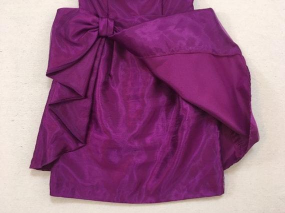 1990's, strapless, big bow, formal, mini-dress, i… - image 7