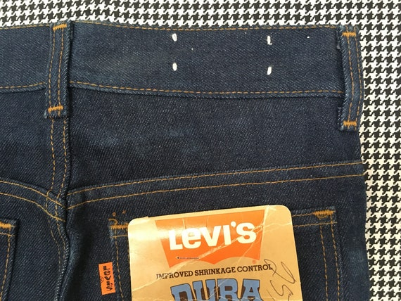1970's, Levi's, dark denim, bell bottoms, size 25… - image 8