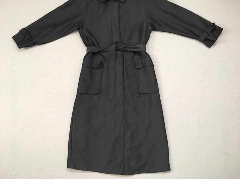 1742bf7fe60 1980's nylon trench coat in graphite by J.G. Hook | Etsy