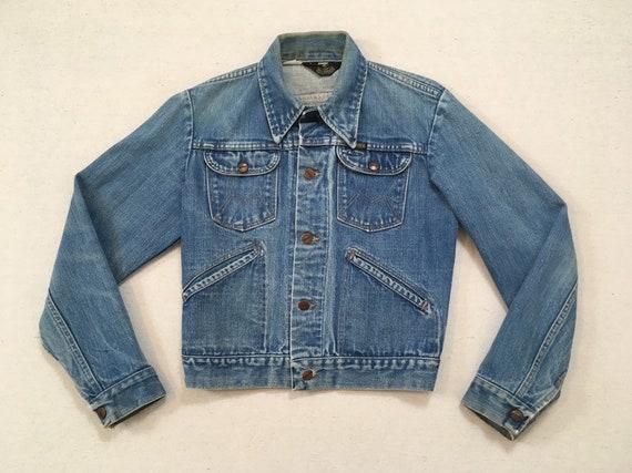 1970's, long collar, denim jacket, by Maverick