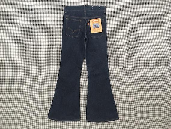 1970's, Levi's, dark denim, bell bottoms, size 25… - image 6