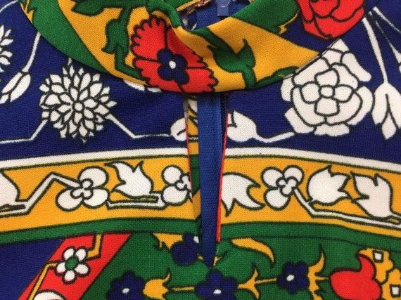 1970's, sleeveless, polyester, maxi dress, in nav… - image 3