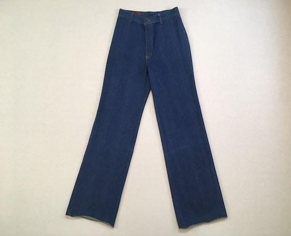 1970's, high waist, wide leg, jeans, by Brooklyn B