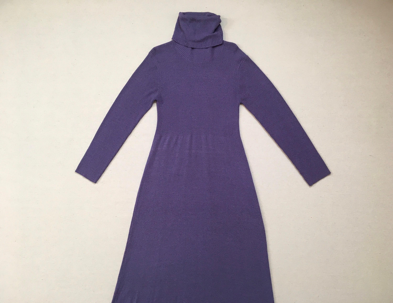 80s Dresses | Casual to Party Dresses 1980s, Knit, Turtleneck, Maxi-Dress, in Lavender $0.00 AT vintagedancer.com