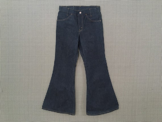 1970's, Levi's, dark denim, bell bottoms, size 27… - image 1