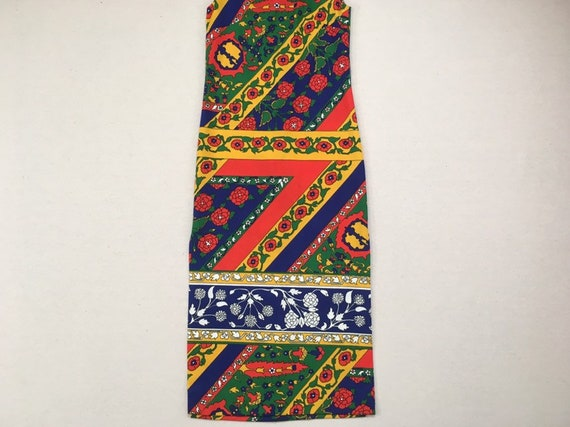 1970's, sleeveless, polyester, maxi dress, in nav… - image 5