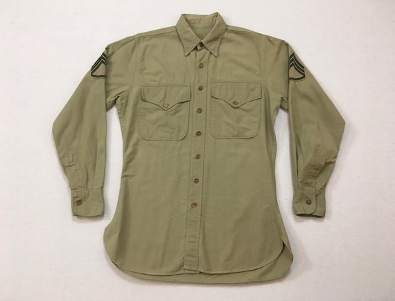 1960's, Staff Sergeant, Military shirt, in khaki