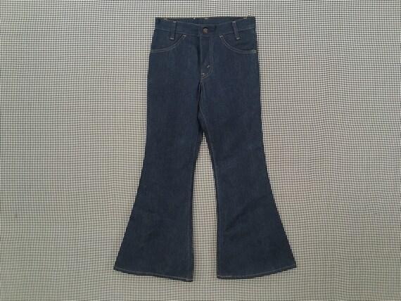1970's, Levi's, dark denim, bell bottoms, size 27x