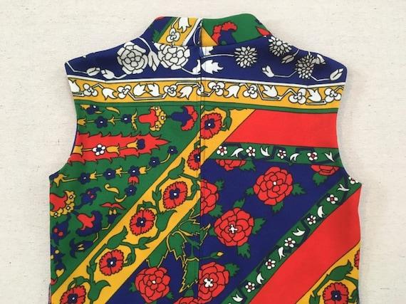 1970's, sleeveless, polyester, maxi dress, in nav… - image 9
