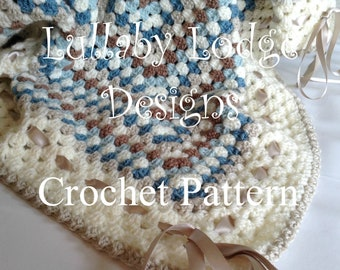 PDF PATTERN - The Beginners Blanket  - Make this gorgeous crochet granny square baby blanket in soft colours - Instant digital download...