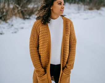 Crochet Pattern: Aurora Cardigan for Women, Crochet Cardigan Pattern, Permission to sell finished items, Instant Download