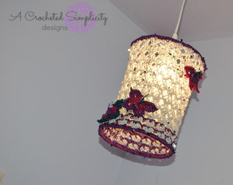 """Crochet Pattern: """"Butterfly Dreams"""" Pendant Lamp, Permission to Sell Finished Items"""