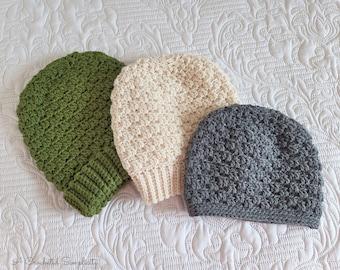 PDF Crochet Pattern: Avalon Beanie & Slouch, crochet hat pattern, Beanie Slouch, instant download crochet hat pattern
