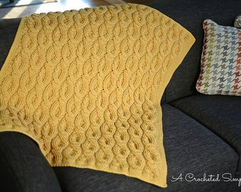 Crochet Pattern: Cascading Cables Afghan **Permission to Sell Finished Items INSTANT DOWNLOAD