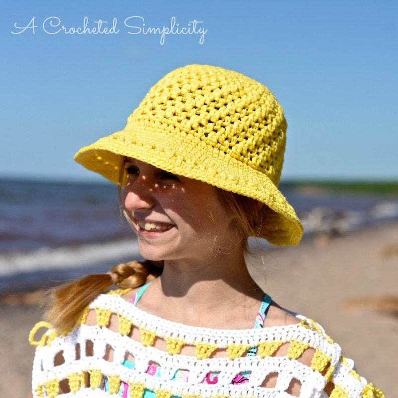 03c9f7dcdb67f Crochet Pattern: Makin' Lemonade Sunhat Sizes Doll Baby | Etsy
