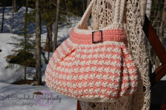 Crochet Pattern Houndstooth Handbag Purse Permission To Etsy