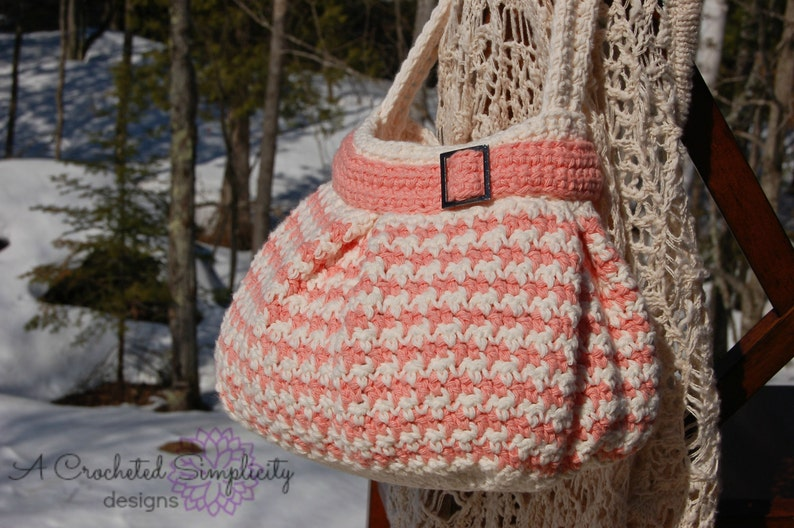 Crochet Pattern: Houndstooth Handbag / Purse Permission to image 0