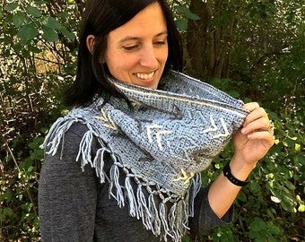 """Crochet Pattern: """"Boho Chic"""" Arrow Fringed Cowl **Permission to Sell Finished Items INSTANT DOWNLOAD"""