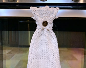 Crochet Pattern: Farmhouse Striped Kitchen Towel, Crochet Dish Towel, Permission to sell finished items, Instant Download