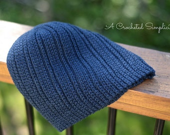 "Crochet Pattern: ""Knit-Look"" Everyday Beanie & Slouch"