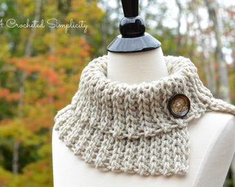 Crochet Pattern: Knot Knit Cowl **Permission to Sell Finished Items INSTANT DOWNLOAD