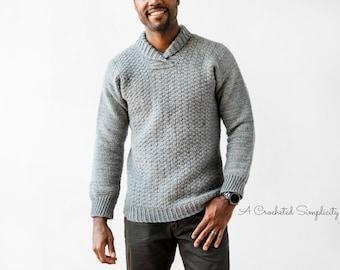 PDF Crochet Pattern: The WULF Men's Pullover, mens crochet sweater pattern, crochet for men