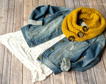 Crochet Pattern: Orlena Cowl & Infinity Scarf **Permission to Sell Finished Items INSTANT DOWNLOAD