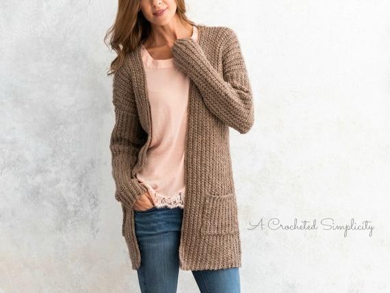 f928d594d The Everyday Cardigan PDF DIGITAL DOWNLOAD Crochet Pattern