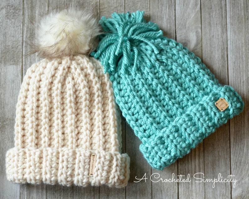 818d6faf4c7 Crochet Pattern  Knit-Look Super Bulky Slouch Adult   Kids