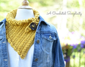 Crochet Pattern: Marigold Scarf **Permission to Sell Finished Items INSTANT DOWNLOAD