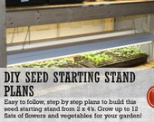 2 x 4 DIY Seed Starting Rack Plans - With Seed Starting Tips Guide Included!