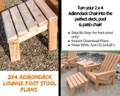 2x4 Foot Stool Plans For 2x4 Adirondack Chair