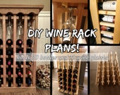 DIY Wine Rack Plans - 20 Bottle, 12 Wine Glass Rack