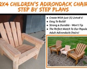 Child Size 2x4 Adirondack Chair Plans - The Perfect Size For Kids!