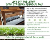 2x4 Tabletop Seed Starting Stand - Step by Step DIY Plans