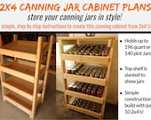 2 x 4 Canning Jar Cabinet Plans - Store & Display Your Canning Jars In Style!