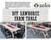 DIY Sawhorse Farm Table Plans – Made Easily From Inexpensive 2x Lumber!