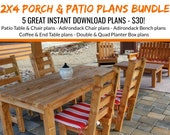 DIY2 x 4 Porch & Patio Furniture Bundle Plans!
