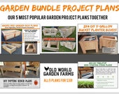 The Garden Bundle Plans Set - 5 Great Plans!