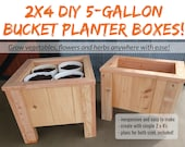 2 x 4  DIY 5-Gallon Bucket Planter Box Plans - An Incredible Way To Grow Anything, Anywhere!