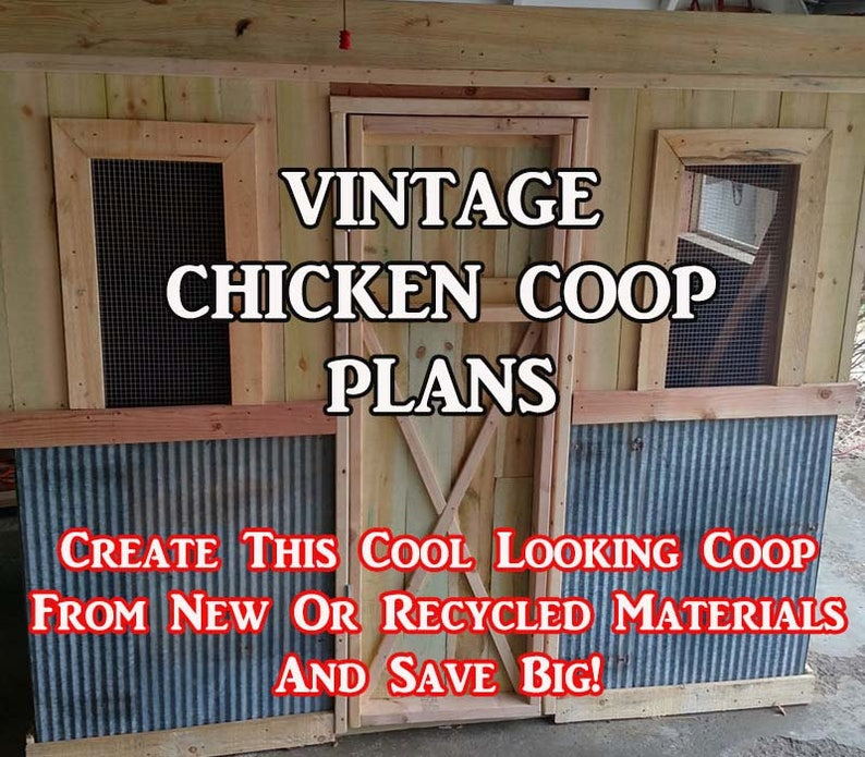 DIY Vintage Chicken Coop Plans  Can Be Made From Pallets image 0