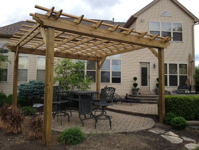 Pergola Plans: Complete Plans To Build A Garden Pergola | Etsy