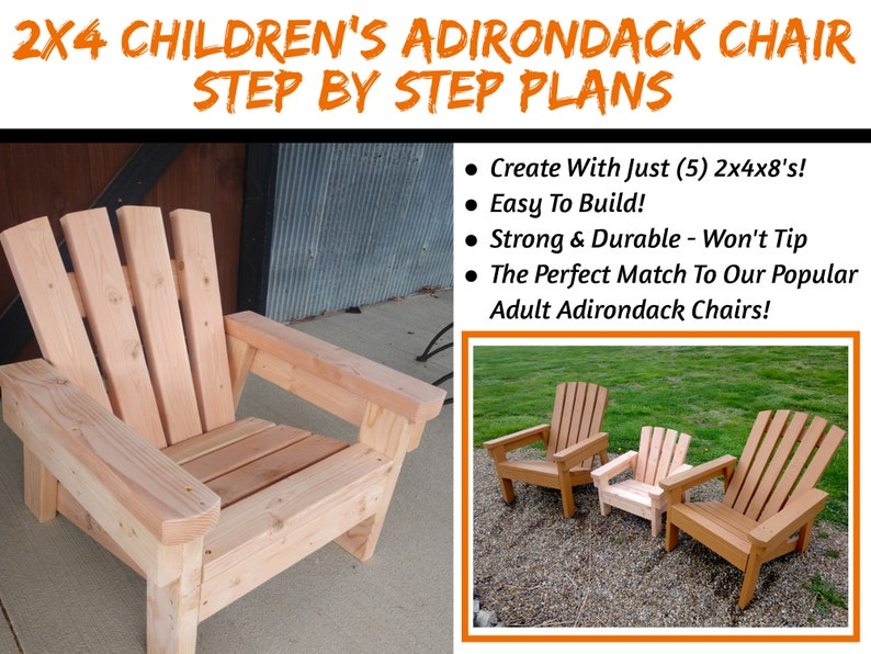 Child Size 2x4 Adirondack Chair Plans  The Perfect Size For image 0