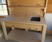 DIY Potting Bench Plans - Strong, Elegant - And Easy To Make From Basic 2x Lumber!
