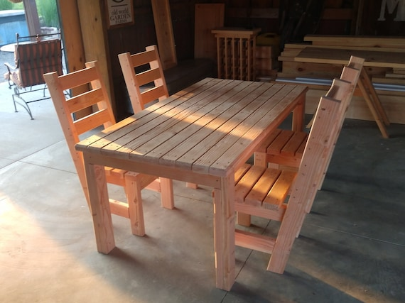 2 X 4 Patio Porch Table Chair Set Plans Simple Easy Plans For An Incredibly Inexpensive And Beautiful Diy Patio Table Made From 2x4 S