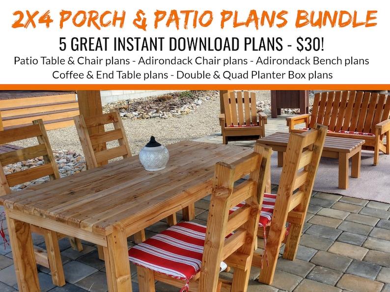 DIY2 x 4 Porch & Patio Furniture Bundle Plans image 0