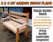 2 x 4 Classic Garden / Park Bench Plans